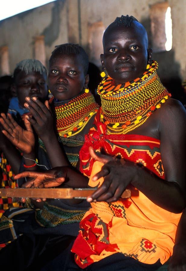 женщины turkana Кении стоковые изображения rf