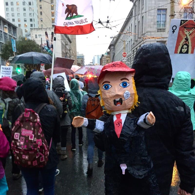 Женщин Сан-Франциско -го март стоковые изображения rf