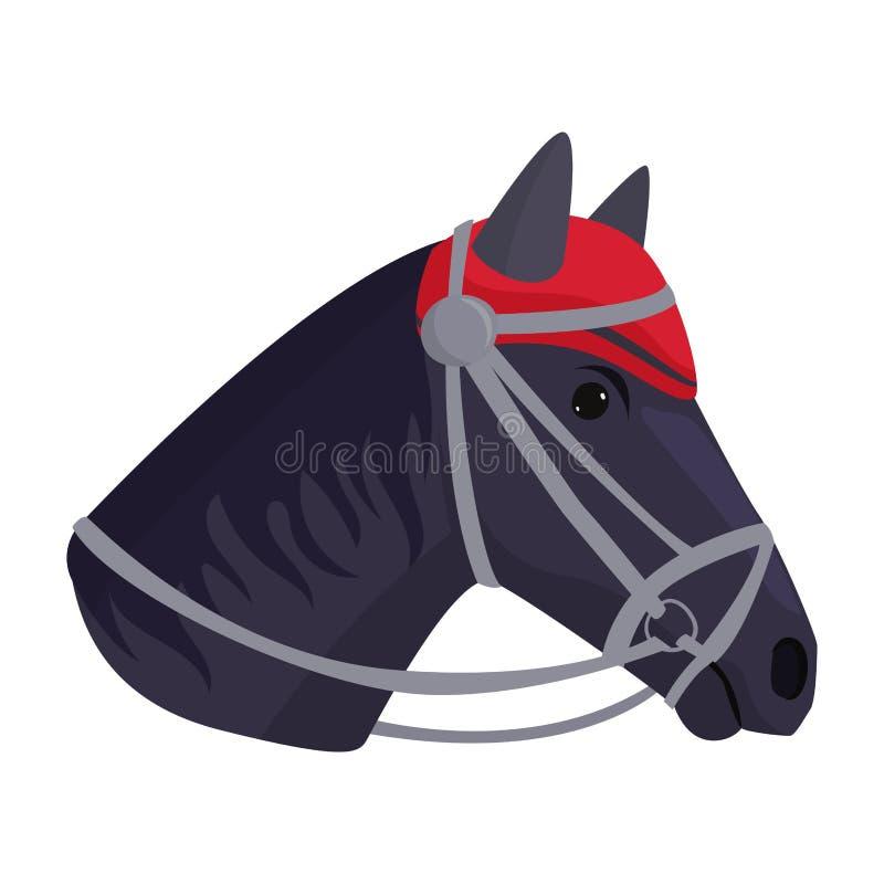 Жеребец головы пони лошади изолировал иллюстрацию вектора характера фермы цвета конноспортивную животную иллюстрация штока