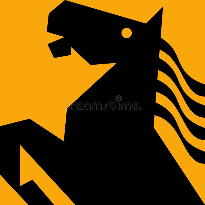 жеребец лошади prancing бесплатная иллюстрация