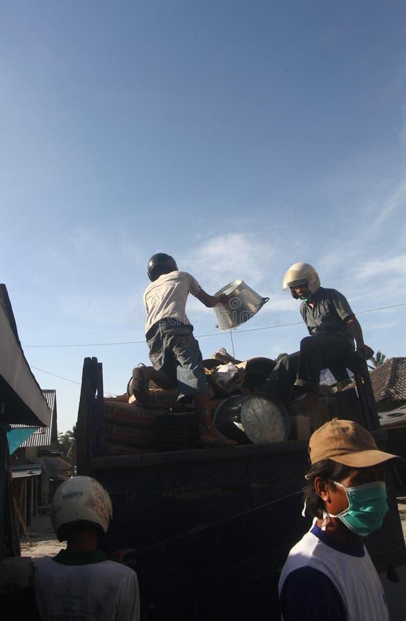 Жертва извержения Mount Merapi стоковая фотография