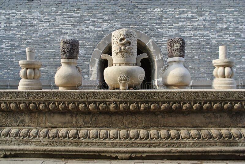 5 жертвенных утварей на Zhaoling династии Qing стоковые изображения rf