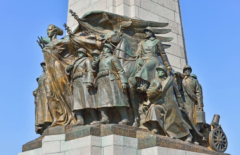 Жертвы мемориала чествуя мировых войн стоковая фотография