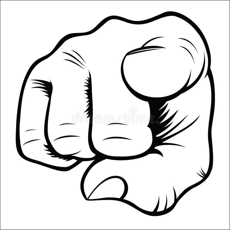 Жесты рукой - вы иллюстрация вектора