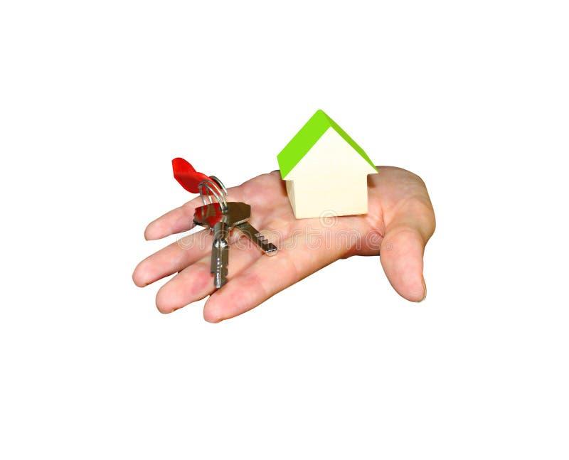 Жесты рук - это персона которая держит виртуальный объект стоковое изображение