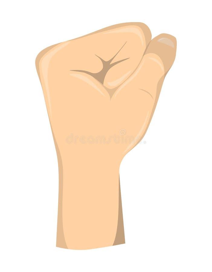 Жест кулака руки иллюстрация штока