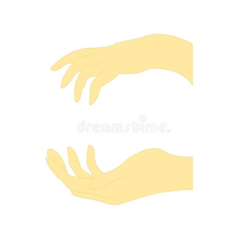 Жест рукой 2 женщин иллюстрация штока