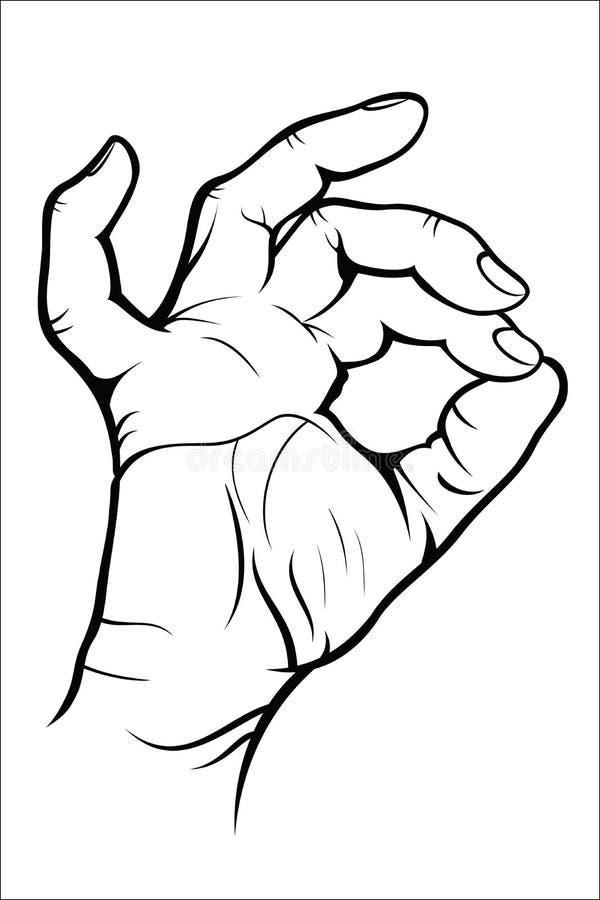 Жест рукой - о'кей бесплатная иллюстрация