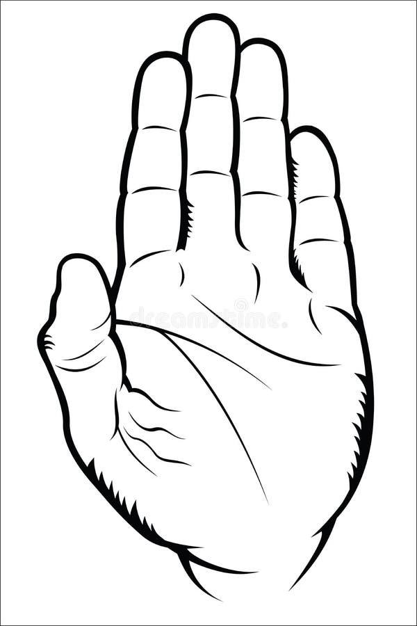 Жест рукой - стоп иллюстрация вектора