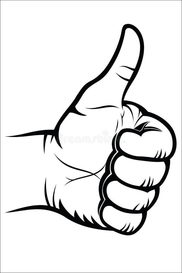 Жест рукой - хороший иллюстрация штока