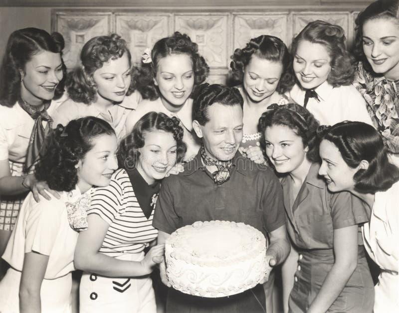 Желание дня рождения приходит верно стоковые фотографии rf