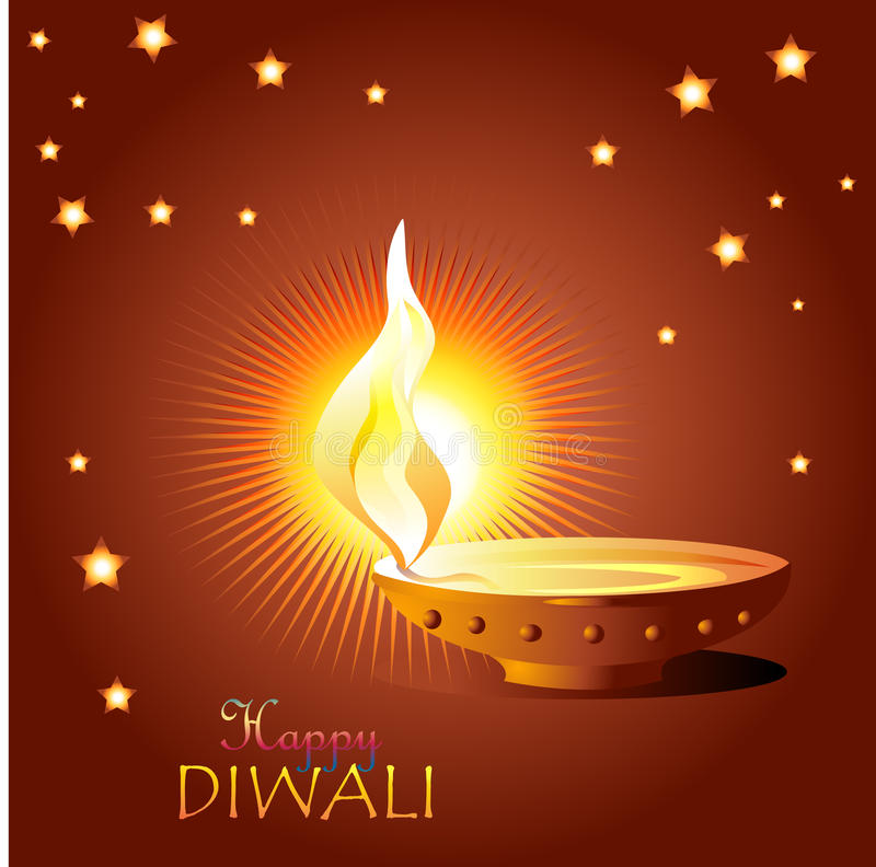 Желания Diwali бесплатная иллюстрация