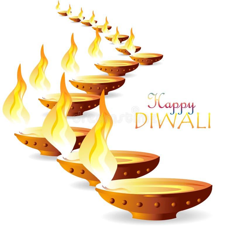 Желания Diwali иллюстрация штока