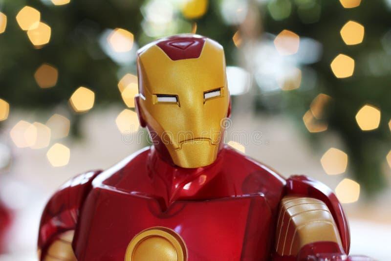 Железная игрушка мстителя человека стоковые фото