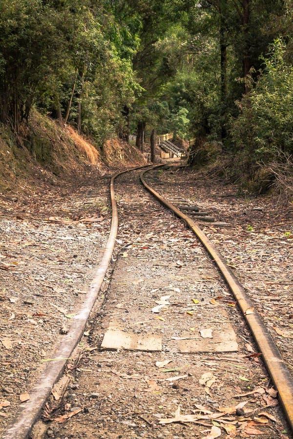 Железная дорога к нигде стоковое фото