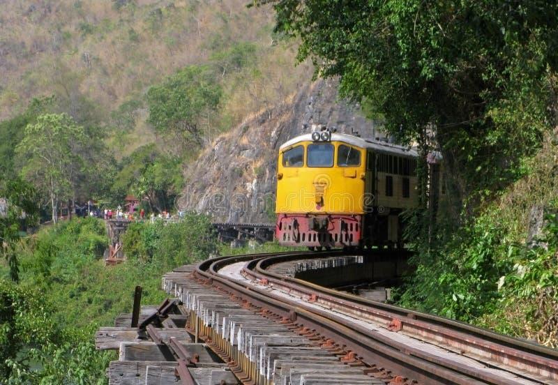 Железная дорога смерти в Таиланде стоковые изображения rf