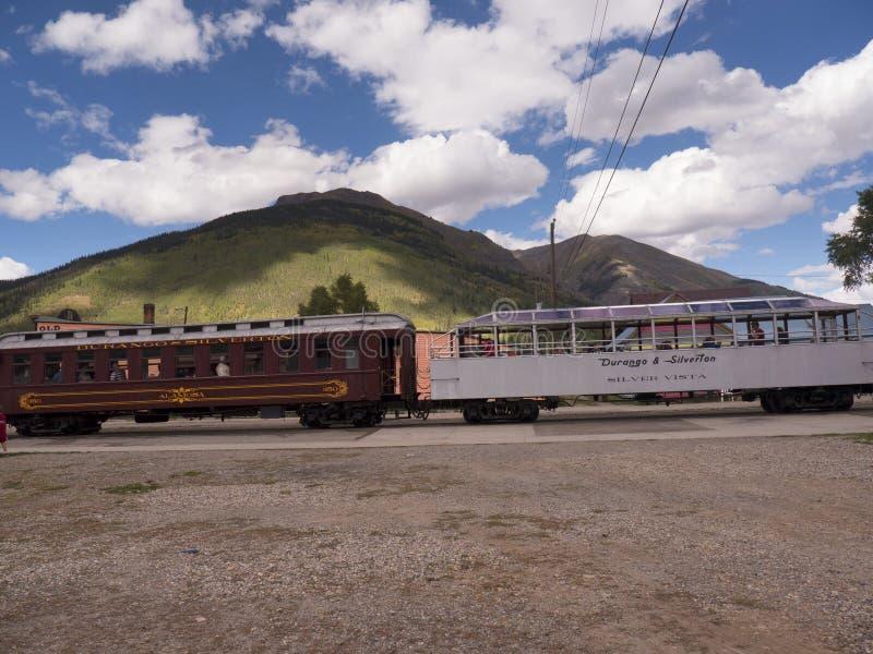 Железная дорога узкой колеи от Дуранга к Silverton в Колорадо США стоковая фотография rf