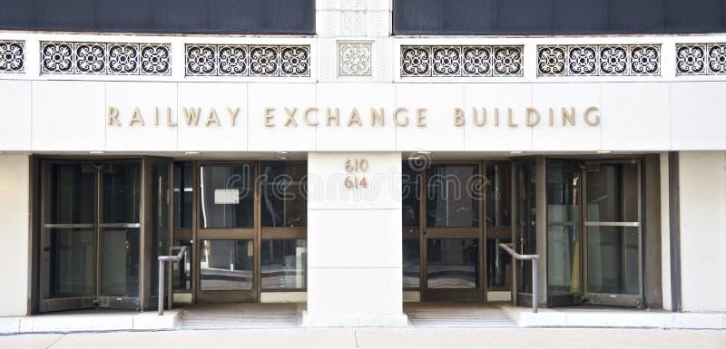 Железнодорожное помещение биржи, Сент-Луис, Миссури стоковые фото