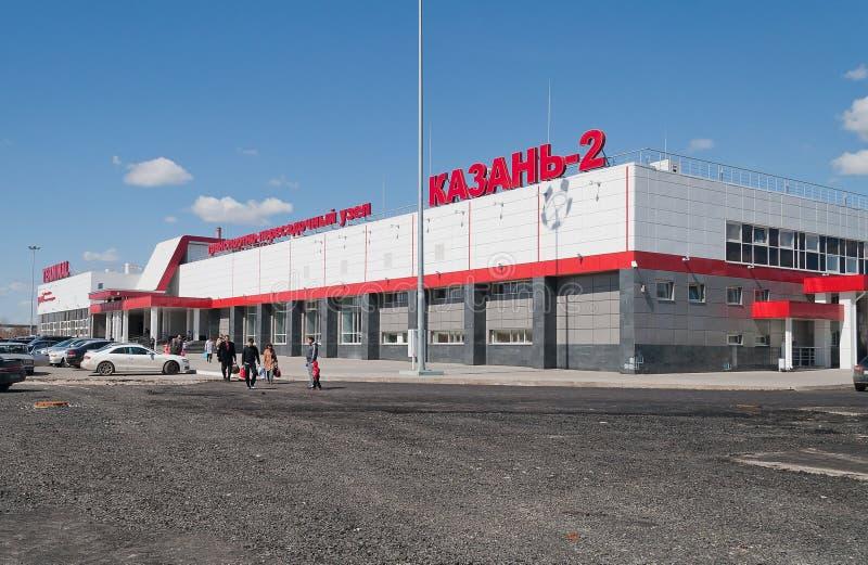 Железнодорожное терминальное Vosstanie Passazhirskaya (Kazan-2). Казань. Russ стоковые фотографии rf