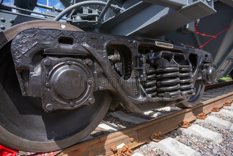 Железнодорожное wheelset стоковое изображение