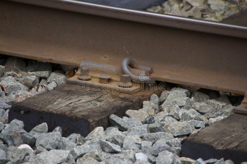 Железнодорожные крепежные детали стоковые фото