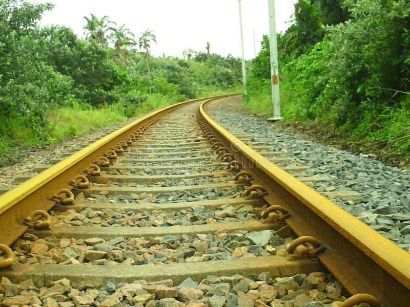 Железнодорожные пути стоковое изображение