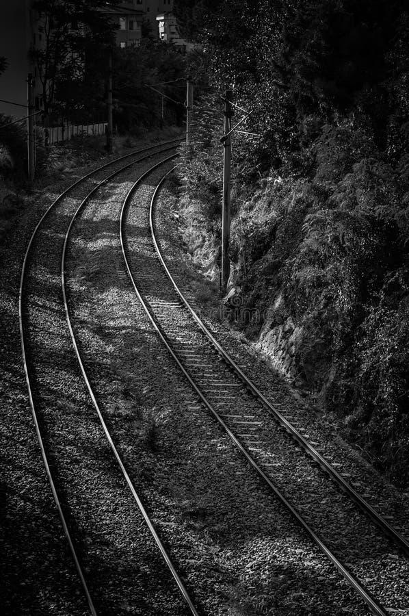 Download Железнодорожный взгляд от моста сверх Стоковое Изображение - изображение насчитывающей съемка, размещено: 41650735