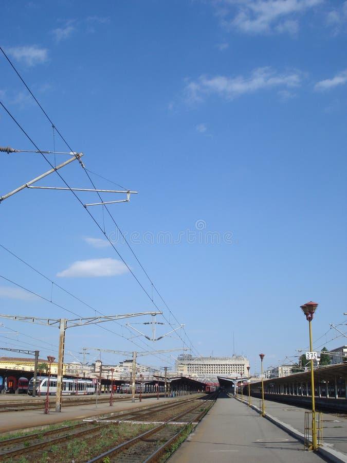 Железнодорожный вокзал Бухареста северный стоковая фотография rf
