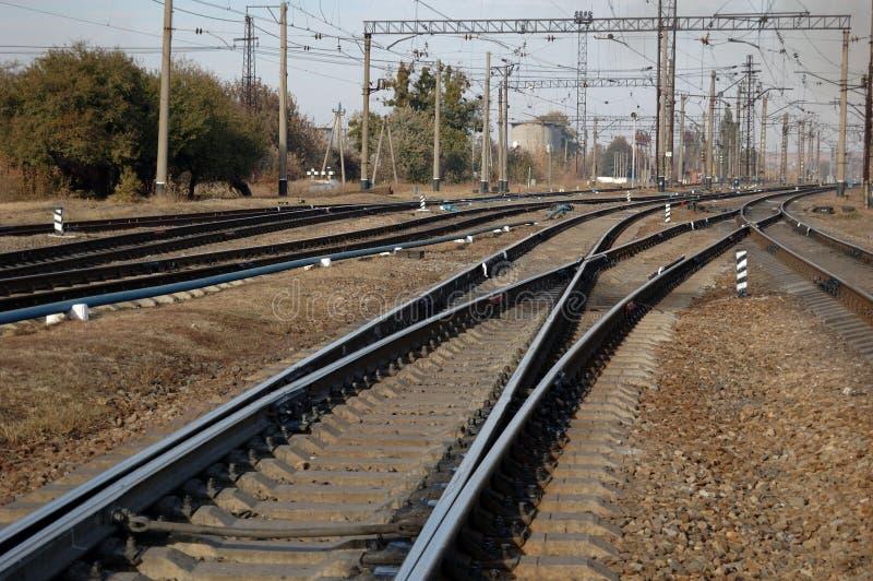 Железнодорожный вокзал близко стоковые фото