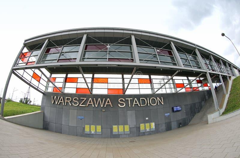 Железнодорожный вокзал Варшавы Stadion в городе Варшавы, Польше стоковое фото