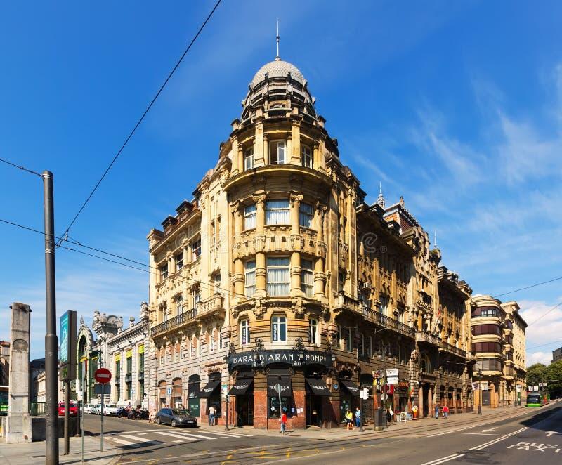 Железнодорожный вокзал в Бильбао Испания стоковые фото