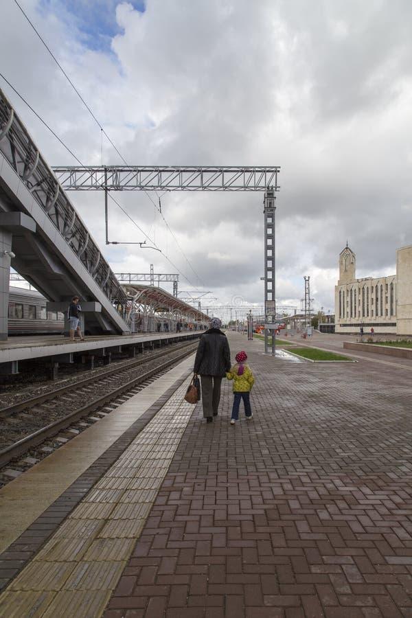 Железнодорожный вокзал в Казани, Российская Федерация стоковая фотография rf