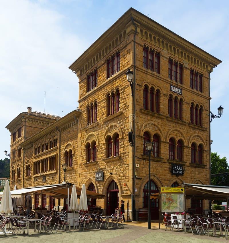 Железнодорожный вокзал в Estella-Lizarra стоковые фото