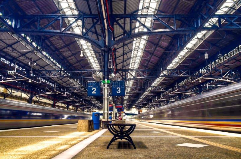 Железнодорожный вокзал Куалаа-Лумпур, Малайзия стоковое изображение