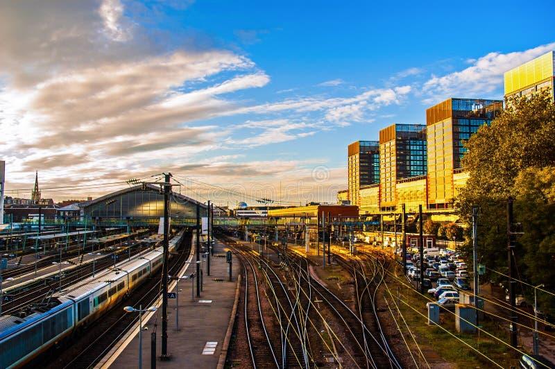 Железнодорожный вокзал Лилля стоковые изображения
