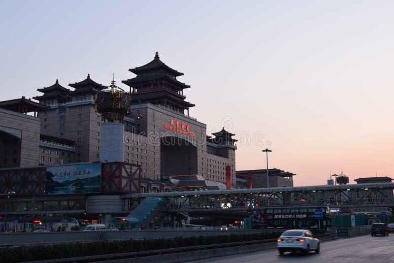 Железнодорожный вокзал Пекина западный стоковая фотография rf