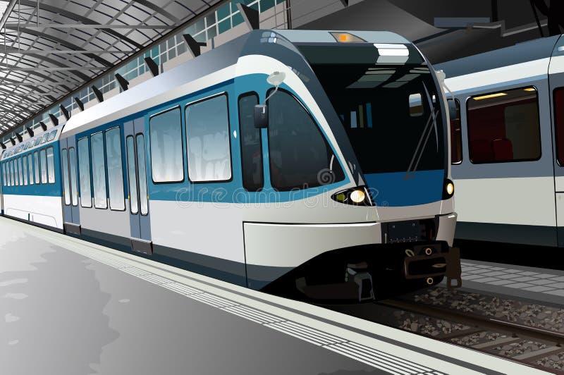 железнодорожный вокзал иллюстрация вектора