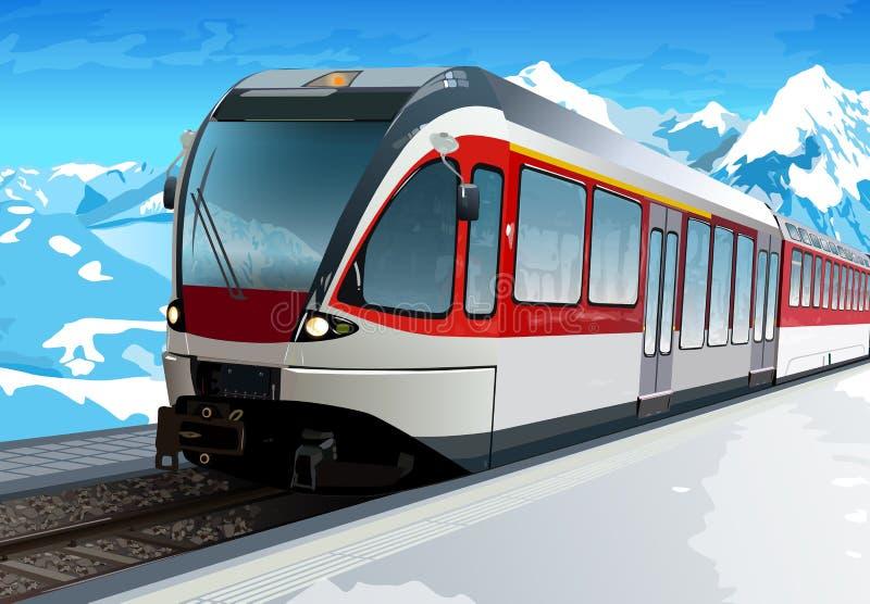 железнодорожный вокзал иллюстрация штока
