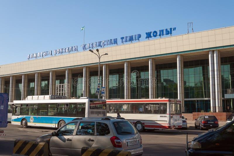 Железнодорожный вокзал Almaty-1 стоковые фотографии rf
