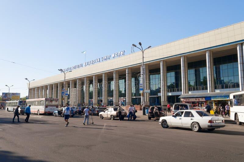 Железнодорожный вокзал Almaty-1 стоковые изображения