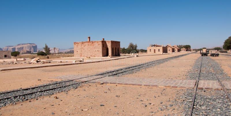 Железнодорожный вокзал Hejaz около al-Ula стоковое изображение rf