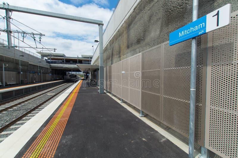 Железнодорожный вокзал Mitcham стоковая фотография rf