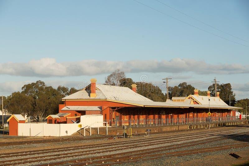 Железнодорожный вокзал Temora стоковое изображение