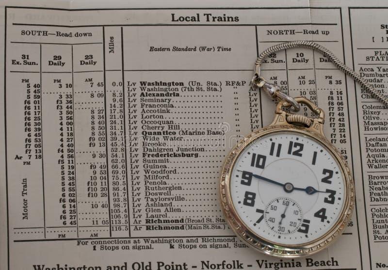 Железнодорожный карманный вахта стоковая фотография rf