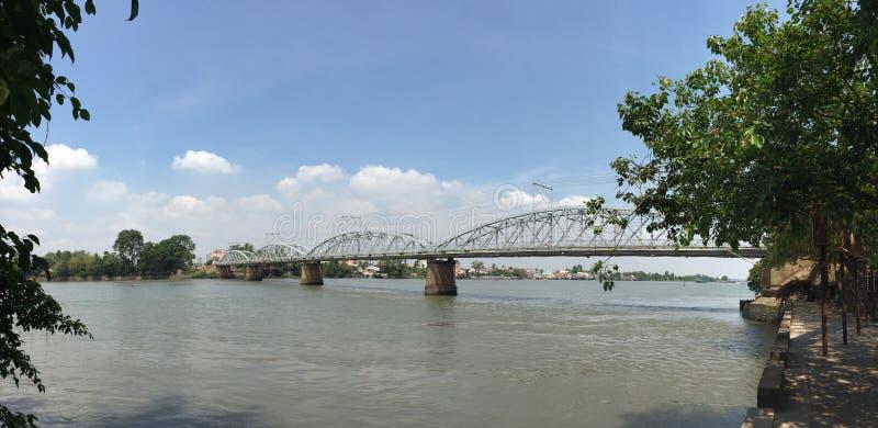 Железнодорожный мост в Вьетнаме стоковые фото