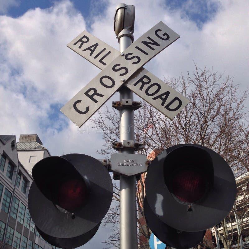 Железнодорожный переезд стоковое фото rf