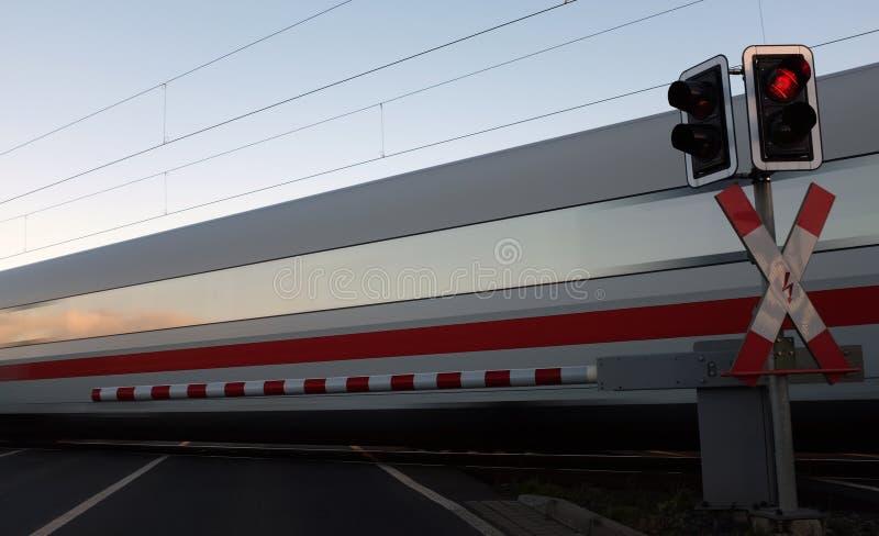 Железнодорожный переезд стоковые изображения