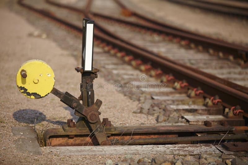 Железнодорожный переключатель - символизирует решение стоковое изображение rf