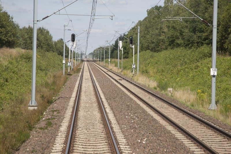 Железнодорожный путь в Польше стоковое фото rf