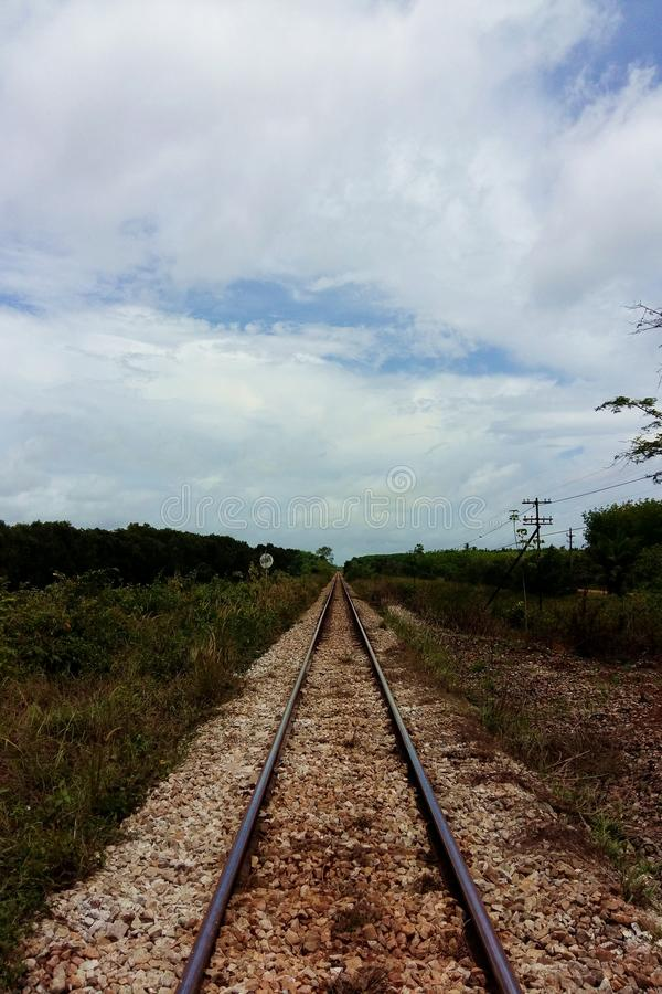 железнодорожный Таиланд стоковая фотография rf